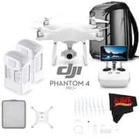 DJI Phantom 4 Pro+ Quadcopter # CP.PT.000549 + DJI Intelligent Flight Battery for Phantom 4 Pro/Pro+ + MicroFiber Cloth Bundle