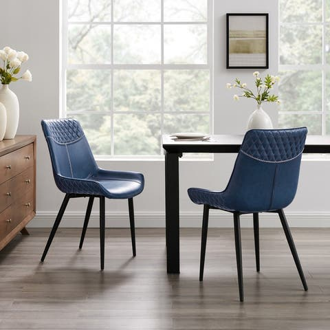 Linon Cary Blue Dining Chairs (Set of 2)