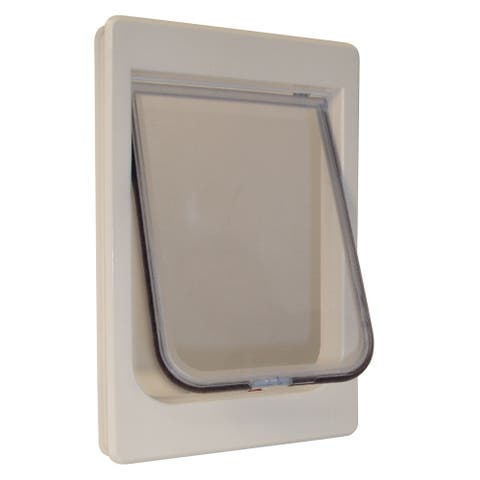 """Ideal Pet Products ChubbyKat Cat Door Large - White - 1.18"""" x 9.5"""" x 14.50"""""""