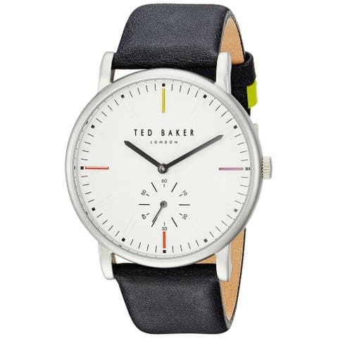 Ted Baker Men's TE50072001 'Nolan' Grey Leather Watch - White