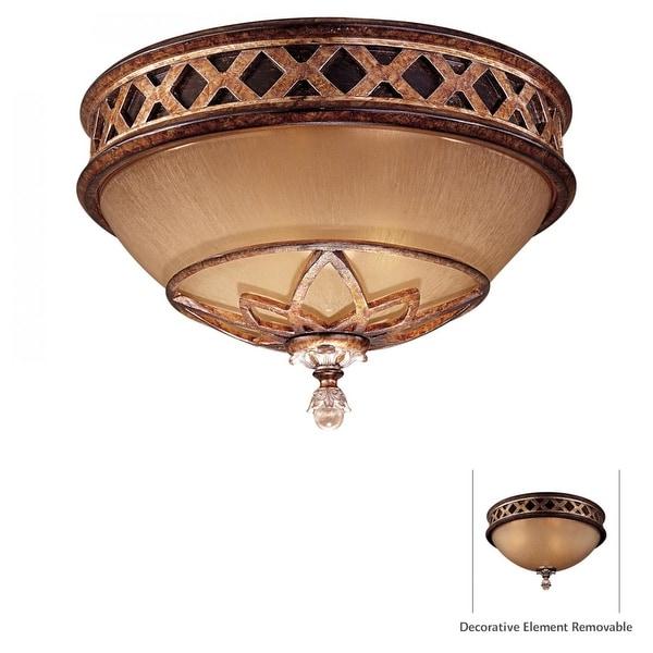 Minka Lavery ML 1755 2 Light Flush Mount Ceiling Fixture from the Aston Court Collection - aston court bronze