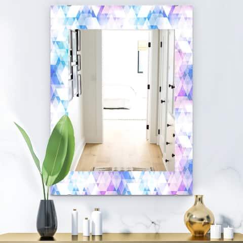Designart 'Triangular Colourfields 10' Modern Mirror - Vanity Mirror