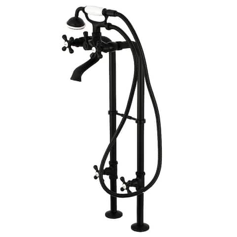Traditional Freestanding Tub Faucet with Hand Shower and Supply Line