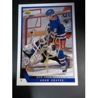 Signed Graves Adam New York Rangers 1993 Upper Deck Hockey Card autographed