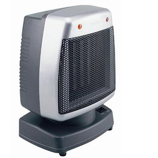 OPTIMUS H1382 1500 Watt Oscillating Ceramic Space Heater - Silver