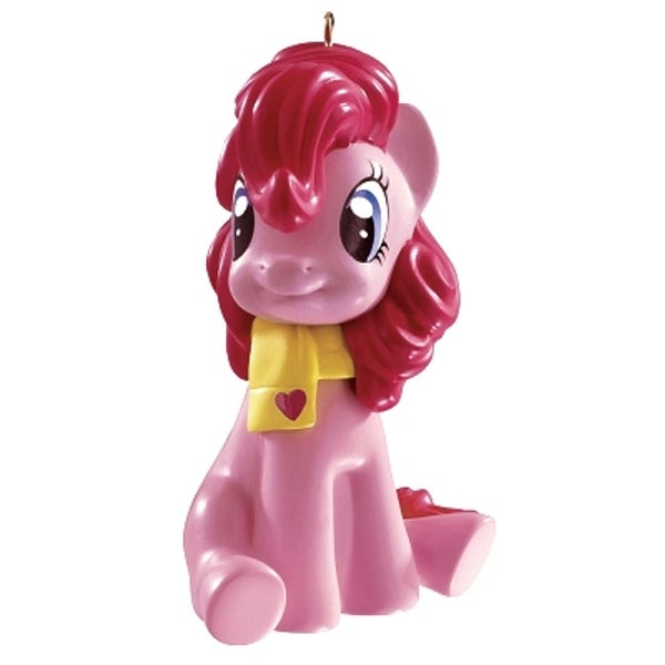 Carlton Cards Heirloom My Little Pony Pinkie Pie Wearing Scarf Christmas Ornament - PInk