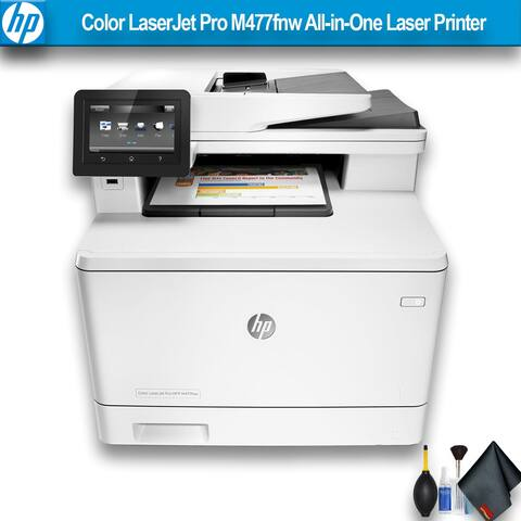 HP Color LaserJet Pro M477fnw All-in-One Laser Printer Bundle