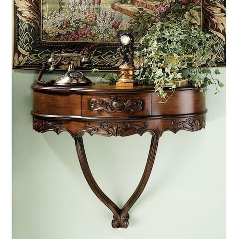 Design Toscano Camellia Wall Console Table - 31.5 x 13 x 26.5