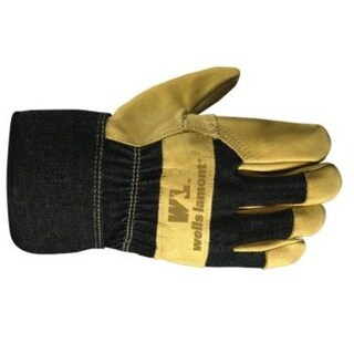 Wells Lamont 3300L Leather Palm Gloves, Large