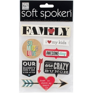 Soft Spoken Themed Embellishments-Family - So Much Love