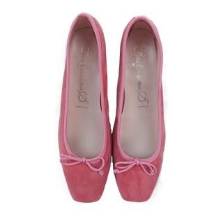 Bailarinas PAMELA ATT Coral Pink Suede Ballerina Pump