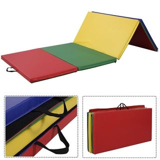 Costway 4'x8'x2'' PU Gymnastics Mat Gym Folding Panel Yoga Exercise Tumbling Pad 4 Colors