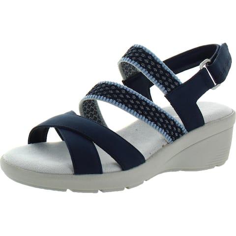 Easy Spirit Womens Priya 3 Wedge Sandals Strappy Slingback