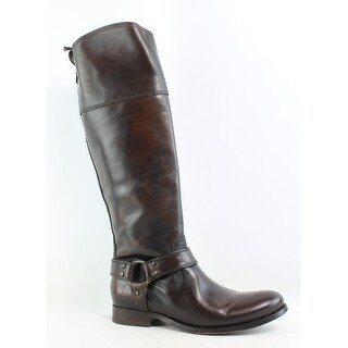 Frye Womens Melissa Harness Zip Brown Riding, Equestrian Boots Size 5.5