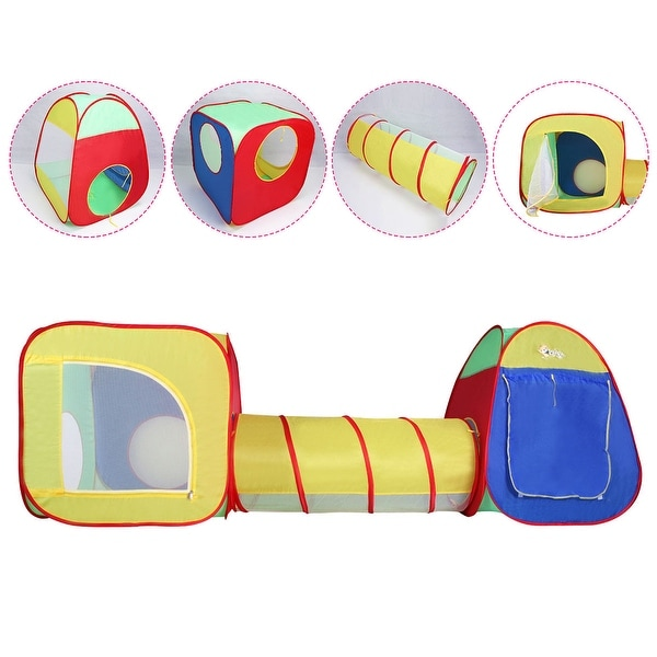 Costway Kids Baby Play Tent Tunnel House In/Outdoor Portable Foldable Children Gift  sc 1 st  Overstock.com & Costway Kids Baby Play Tent Tunnel House In/Outdoor Portable ...