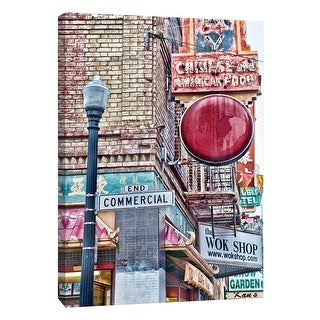 """PTM Images 9-106022  PTM Canvas Collection 10"""" x 8"""" - """"China Town San Francisco"""" Giclee San Francisco Art Print on Canvas"""