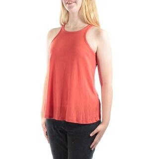 PLANET GOLD $14 Womens New 1175 Orange Jewel Neck Sleeveless Top Juniors M B+B