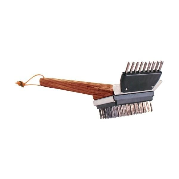 Shop Grill Daddy Gb41011s Small Wooden Grill Brush Brown Free Shipping On Orders Over 45 Overstock 14684308