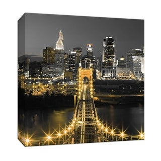 """PTM Images 9-147350  PTM Canvas Collection 12"""" x 12"""" - """"Bridge Above"""" Giclee New York Art Print on Canvas"""
