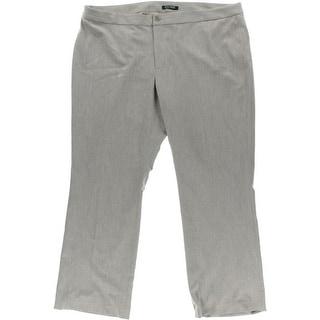 Lauren Ralph Lauren Womens Plus Flare Flat Front Dress Pants