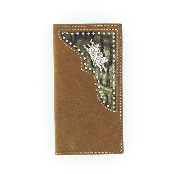 Nocona Western Wallet Mens Rodeo Youth Bull Rider Brown Camo - One size