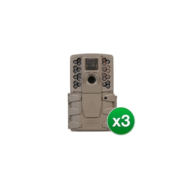 Moultrie MCG-13201 A30 Game Camera w/ Multishot, Time-lapse, Hybrid Modes & 720p HD Video-(3-Pack)