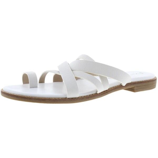 b9d50787239c Shop Via Spiga Womens Reese2 Slide Sandals Leather Toe Ring - Free ...