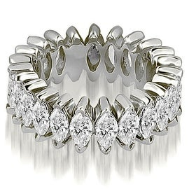 5.75 cttw. 14K White Gold Marquise Diamond Eternity Ring