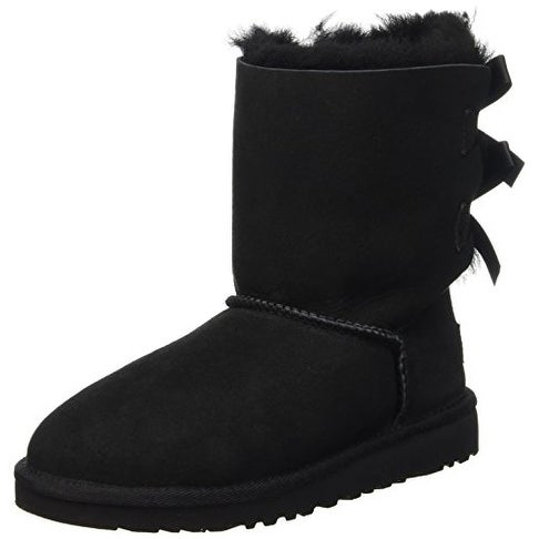 UGG Australia Infants' Bailey Bow Toddler Suede Boots,Black,6 Toddler US