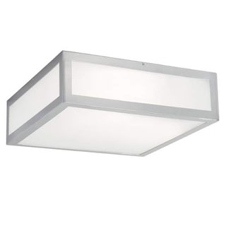 "Norwell Lighting 9699 Kaset Single Light 15"" Wide LED Flush Mount Ceiling Fixture with Shiny Opal Shade"