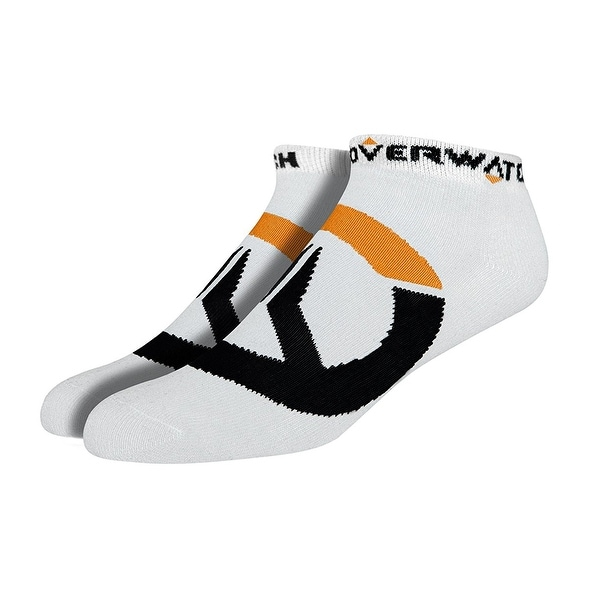 Overwatch Logo Ankle Socks 3 Pack, White, One Size - White