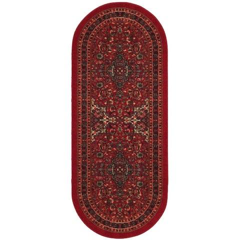 Ottomanson Ottohome Collection Oriental Design Non-slip Area Rug