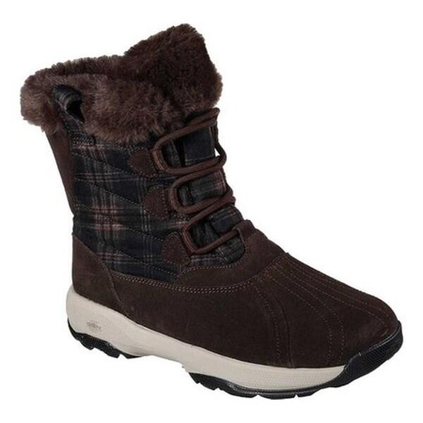 Shop Skechers Women s GOwalk Outdoors Crest Mid Calf Boots Chocolate ... 8c0505d591