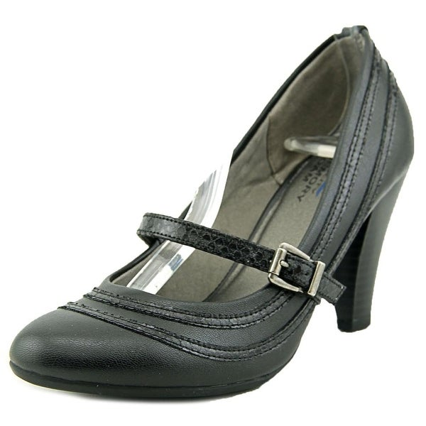 Life Stride Bimala Women Round Toe Synthetic Black Heels