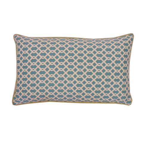 Jiti Geometric Transitional Sunbrella Outdoor Pillows - 12 x 20