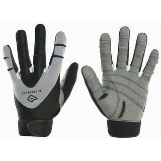 Bionic Men's PerformanceGrip Full Finger Fitness Gloves - gray