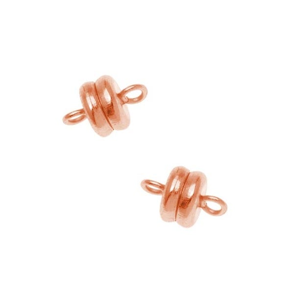 Copper Plated Magnetic Clasps 6 x 4.5mm (4 Sets)
