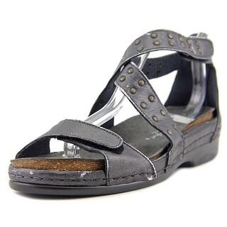 Helle Comfort Tender Open Toe Leather Platform Sandal