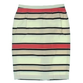 Vince Camuto Womens Twil Striped Pencil Skirt