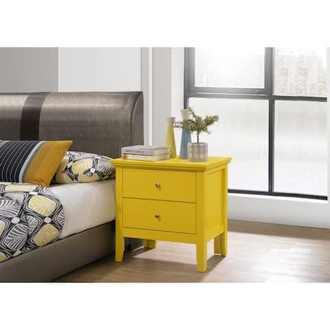 Primo 2-drawer Wood Nightstand