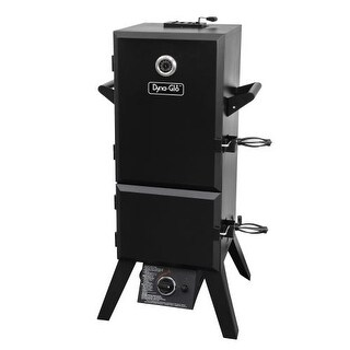 Dyna-Glo DGY784BDP Steel 15,000 BTU Double Door Vertical Gas BBQ Smoker with 4 A