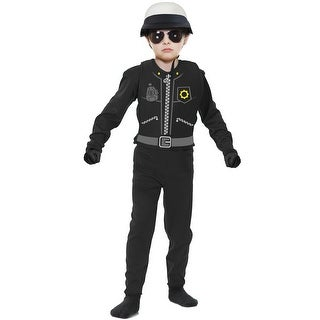 Charades The Cop Child Costume - Black