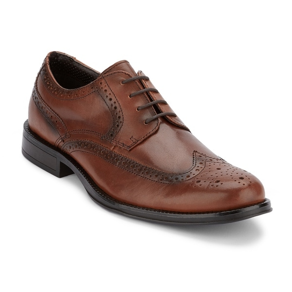 Dockers Mens Moritz Brogue Leather Dress Wingtip Oxford Shoe