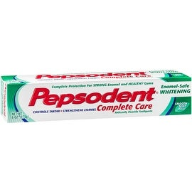 Pepsodent Complete Care Anti-Cavity Fluoride Toothpaste, Whitening with Baking Soda 6 oz