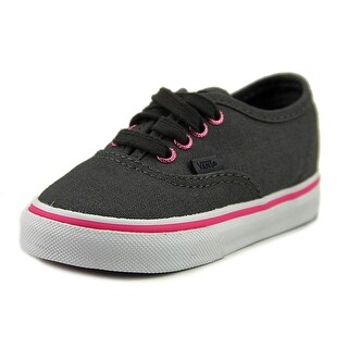 Vans Authentic Toddler Round Toe Canvas Gray Sneakers