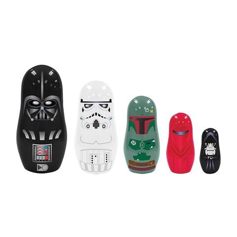 Star Wars Nesting Dolls - Empire - Set of 5 Vader Boba Fett Emperor Stromtrooper - MultiColor