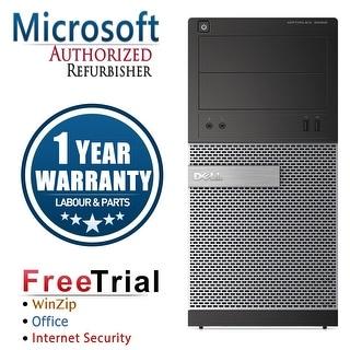 Refurbished Dell OptiPlex 390 Tower Intel Core I5 2400 3.1G 4G DDR3 250G DVD Win 7 Pro 64 Bits 1 Year Warranty - Black