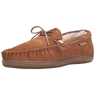 Northside Mens Newton Suede Shearling Moccasin Slippers - 8