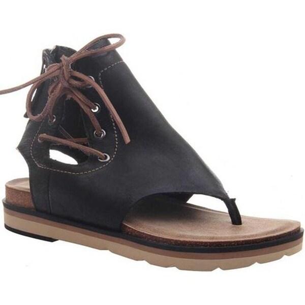 3f57b764c Shop OTBT Women s Locate Thong Sandal Black Genuine Leather - On ...