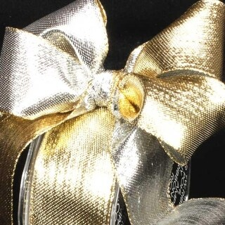 """Shimmering Silver and Gold Metallic Two-Color Wired Craft Ribbon 1.5"""" x 54 Yards"""